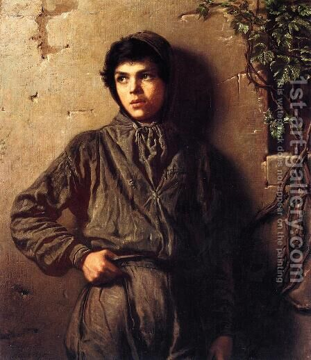 The Savoyard Boy by Eastman Johnson - Reproduction Oil Painting