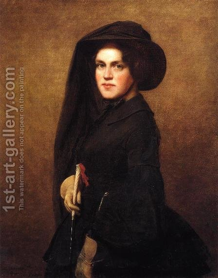 Sarah Osgood Johnson Newton by Eastman Johnson - Reproduction Oil Painting