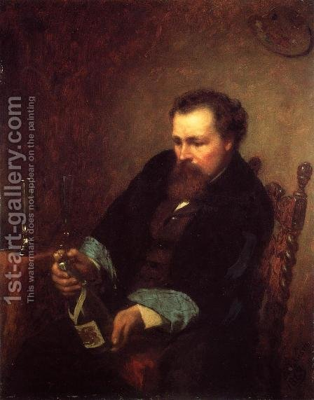 Self Portrait I by Eastman Johnson - Reproduction Oil Painting