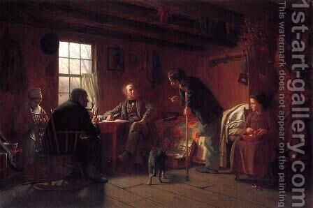 The Pension Claim Agent by Eastman Johnson - Reproduction Oil Painting