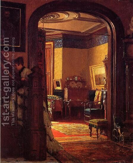 Not at Home by Eastman Johnson - Reproduction Oil Painting