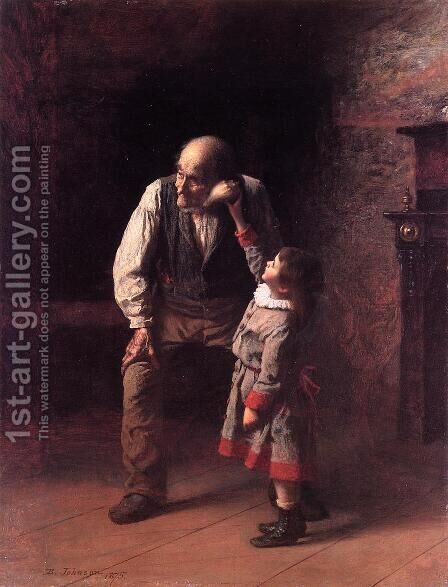 What the Shell Says by Eastman Johnson - Reproduction Oil Painting