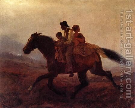 A Ride for Freedom - The Fugitive Slaves by Eastman Johnson - Reproduction Oil Painting