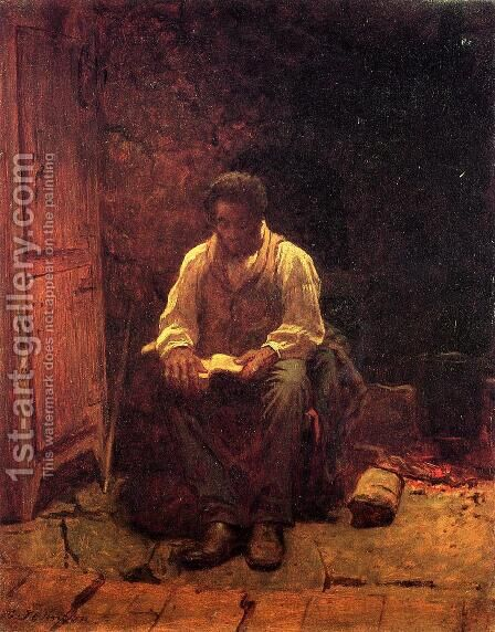 The Lord is My Shepherd by Eastman Johnson - Reproduction Oil Painting