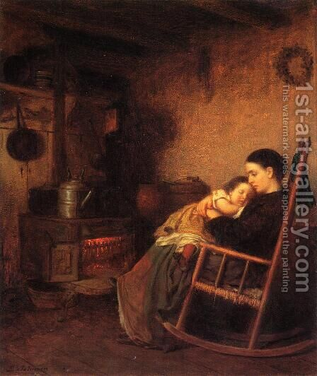 Mother and Child by Eastman Johnson - Reproduction Oil Painting