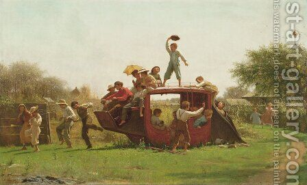 The Old Stage Coach by Eastman Johnson - Reproduction Oil Painting