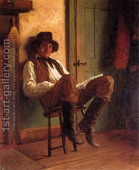 Sunday Morning I by Eastman Johnson - Reproduction Oil Painting