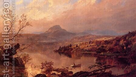 Wickham Pond and Sugar Loaf Mountain, Orange County by Jasper Francis Cropsey - Reproduction Oil Painting