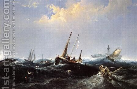 After the Storm on the Coast of Newfoundland by James Hamilton - Reproduction Oil Painting