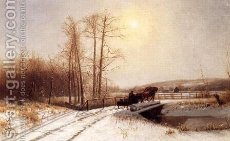 Winter Scene by Clinton Loveridge - Reproduction Oil Painting