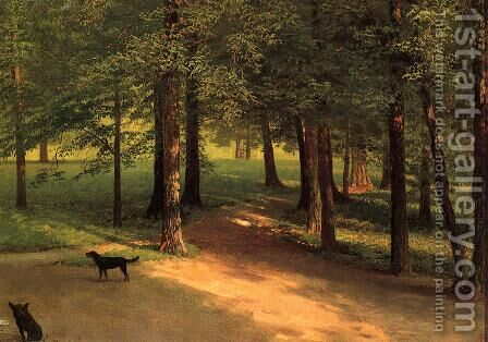 Irvington Woods by Albert Bierstadt - Reproduction Oil Painting