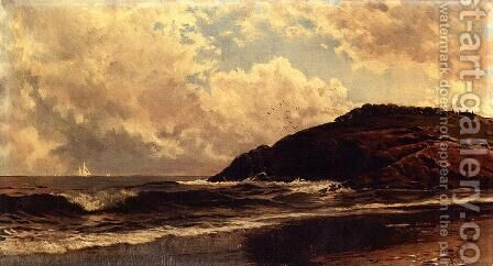 Seascape, Coast of Maine by Alfred Thompson Bricher - Reproduction Oil Painting