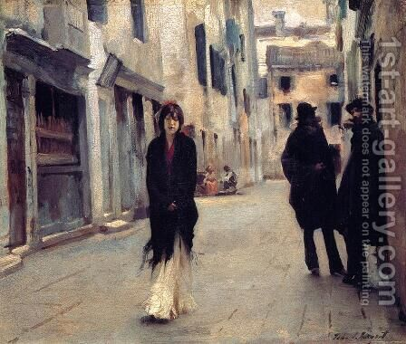 Street in Venice 2 by Sargent - Reproduction Oil Painting