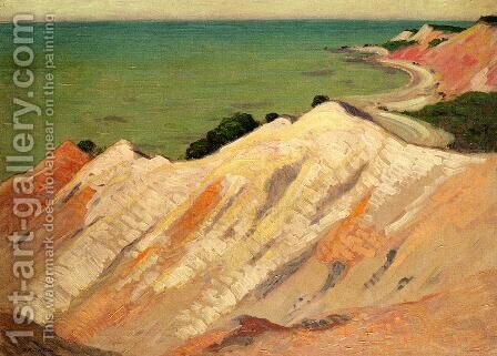 The Clay Cliff, Gay Head, Massachusetts by Arthur Wesley Dow - Reproduction Oil Painting