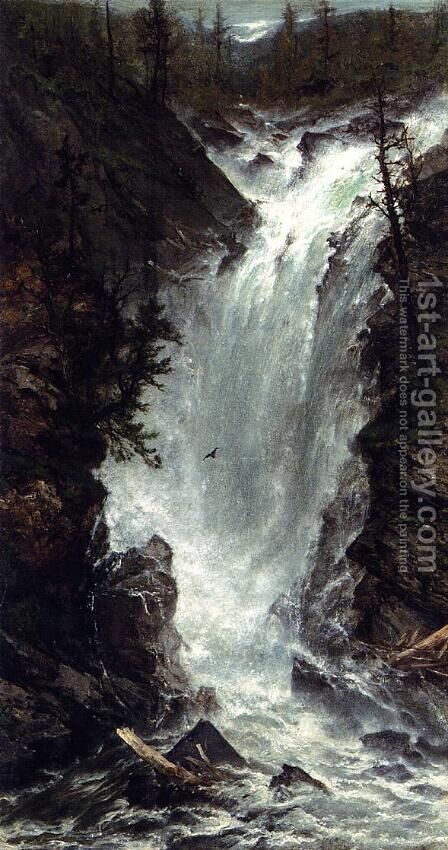 The Waterfall by Homer Dodge Martin - Reproduction Oil Painting