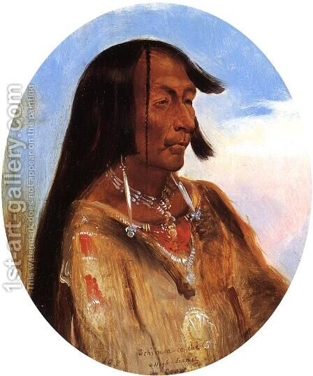 Schim-A-Cho-Che, Crow Chief by Alfred Jacob Miller - Reproduction Oil Painting
