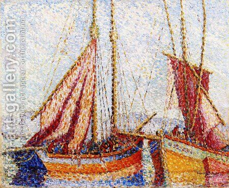 Sailboats by Henri Edmond Cross - Reproduction Oil Painting