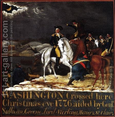 Washington at the Deleware by Edward Hicks - Reproduction Oil Painting
