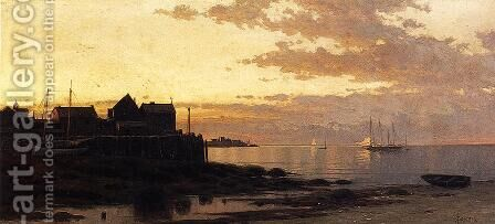 Sunset over the Bay by Alfred Thompson Bricher - Reproduction Oil Painting