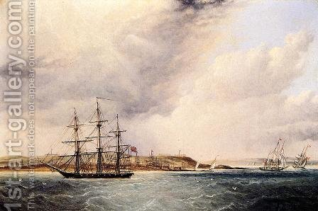 A View of Nassau in the Bahamas, West Indies by James E. Buttersworth - Reproduction Oil Painting