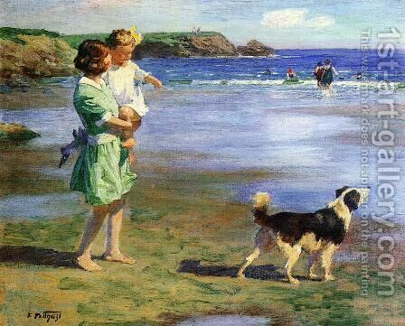 Summer Pleasures by Edward Henry Potthast - Reproduction Oil Painting