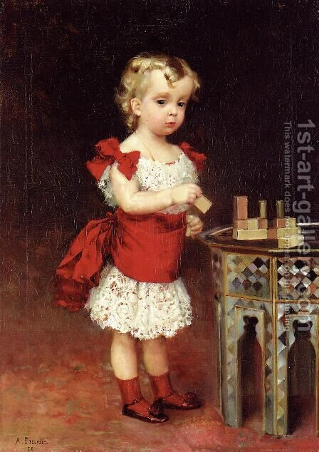 Portrait of Grand Duke Andrei Vladimirovich as a Child by Albert Edelfelt - Reproduction Oil Painting