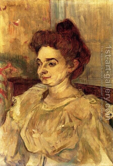 Mademoiselle Beatrice Tapie de Celeyran by Toulouse-Lautrec - Reproduction Oil Painting