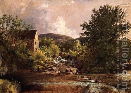 The Old Mill by Jasper Francis Cropsey - Reproduction Oil Painting