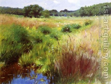 Marshland, Medfield by Dennis Miller Bunker - Reproduction Oil Painting