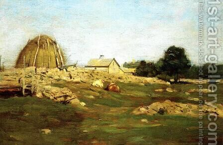Farmyard by Dwight William Tryon - Reproduction Oil Painting