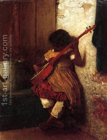 Musical Instinct by Eastman Johnson - Reproduction Oil Painting