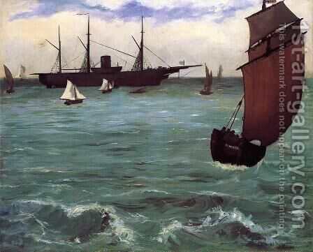 Fishing Boat Coming in Before the Wind by Edouard Manet - Reproduction Oil Painting