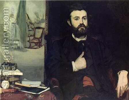 Portrait of Zacharie Astruc by Edouard Manet - Reproduction Oil Painting