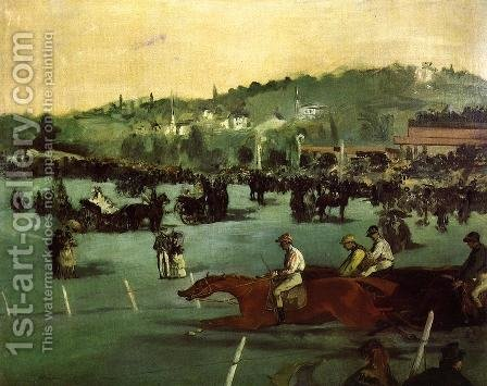 The Races in the Bois de Boulogne by Edouard Manet - Reproduction Oil Painting