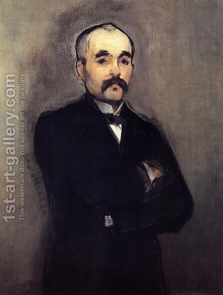 Portrait of Clemenceau by Edouard Manet - Reproduction Oil Painting