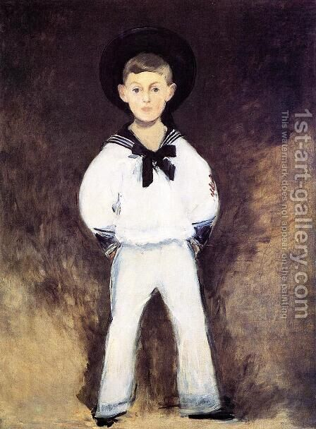 Portrait of Henry Bernstein as a Child by Edouard Manet - Reproduction Oil Painting