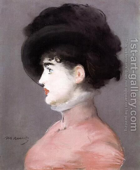 La Viennoise, Portrait of Irma Brunner by Edouard Manet - Reproduction Oil Painting