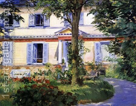 The House at Rueil by Edouard Manet - Reproduction Oil Painting