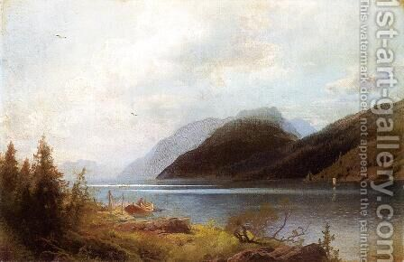 Sagne Fjord by Herman Herzog - Reproduction Oil Painting