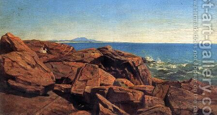 Mount Desert Island, Maine by Andrew W. Warren - Reproduction Oil Painting