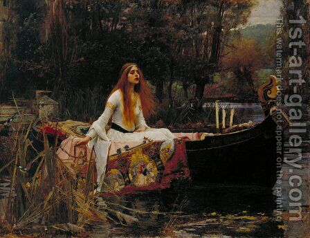 The Lady of Shallot by Waterhouse - Reproduction Oil Painting