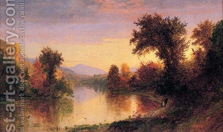 Autumn by the River by Jasper Francis Cropsey - Reproduction Oil Painting