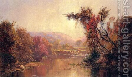 By the River by Jasper Francis Cropsey - Reproduction Oil Painting