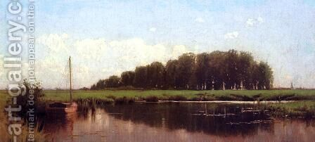 Duck Shootig on the Marshes by Alfred Thompson Bricher - Reproduction Oil Painting