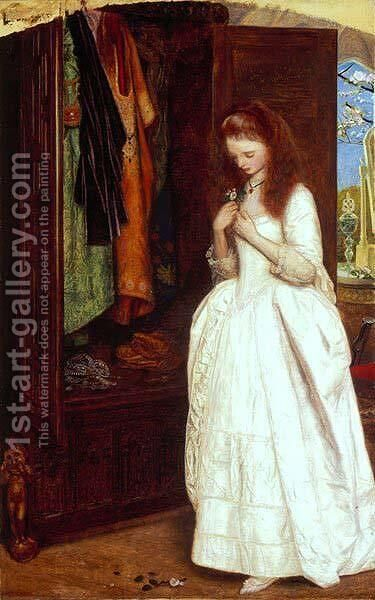 Beauty and the Beast by Arthur Hughes - Reproduction Oil Painting