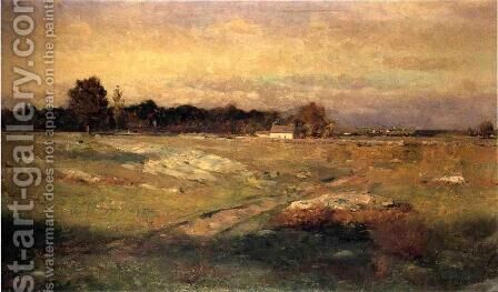 Dartmouth Moorlands by Dwight William Tryon - Reproduction Oil Painting