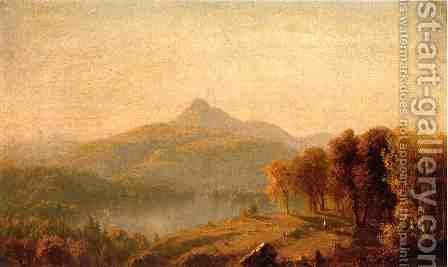 A Sketch of Mount Chocorua by Sanford Robinson Gifford - Reproduction Oil Painting