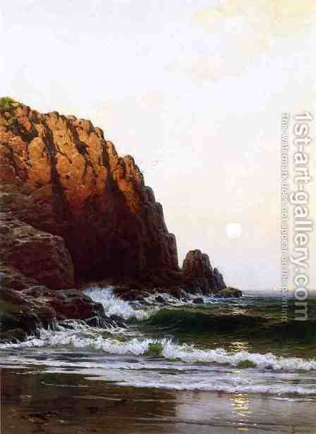 Moonrise, Coast of Maine by Alfred Thompson Bricher - Reproduction Oil Painting