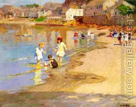 At the Beach I by Edward Henry Potthast - Reproduction Oil Painting