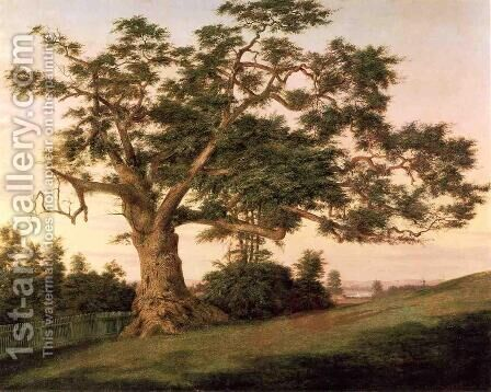 The Charter Oak by Charles DeWolf Brownell - Reproduction Oil Painting